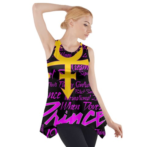 Prince Poster Side Drop Tank Tunic