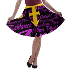 Prince Poster A-line Skater Skirt