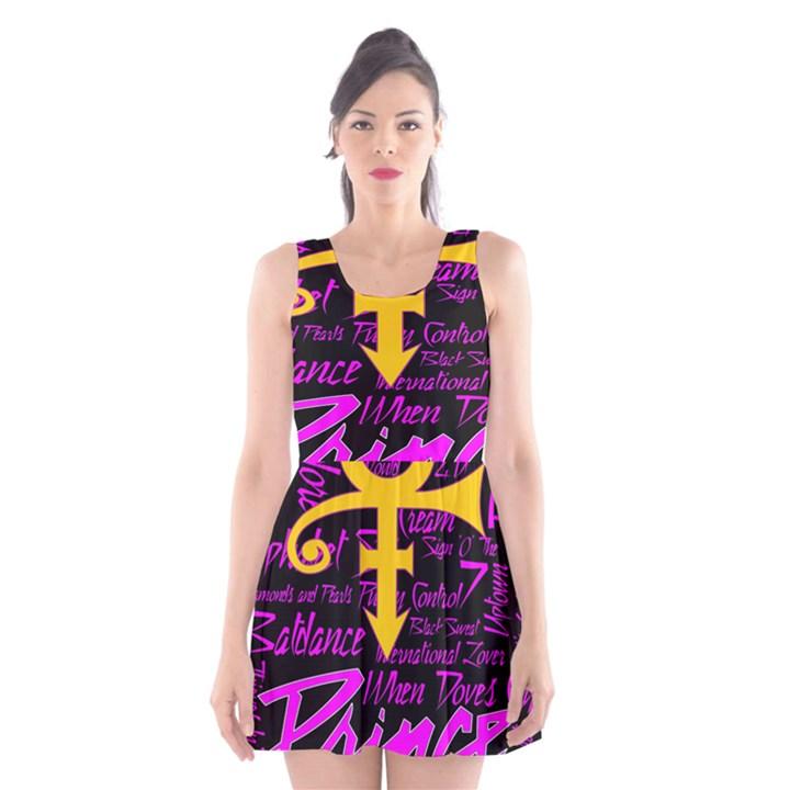 Prince Poster Scoop Neck Skater Dress