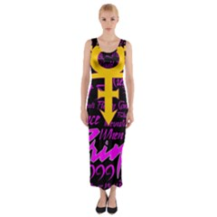 Prince Poster Fitted Maxi Dress