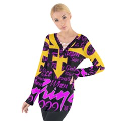 Prince Poster Women s Tie Up Tee
