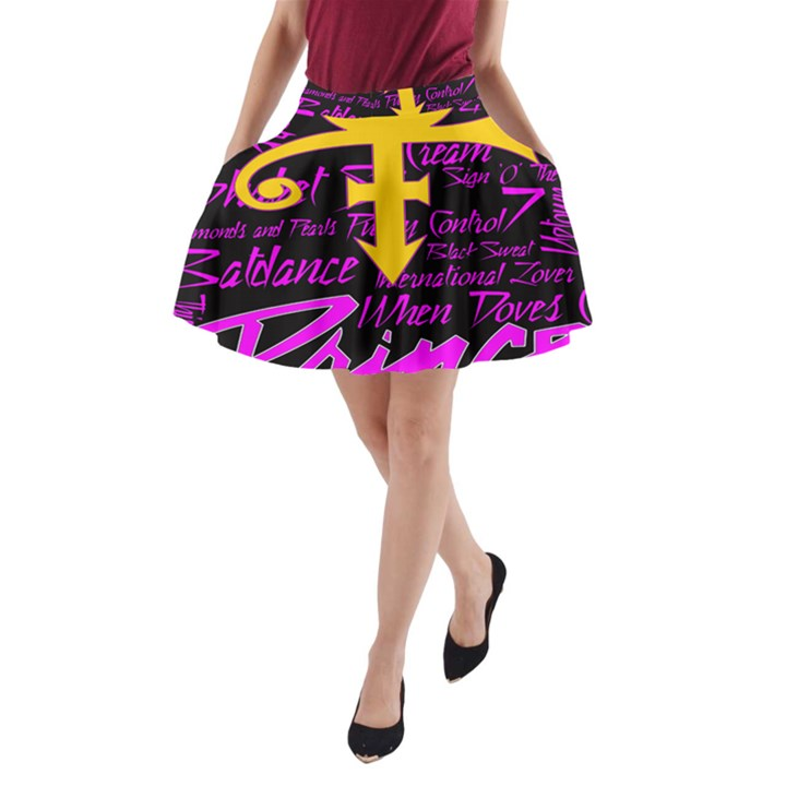 Prince Poster A-Line Pocket Skirt