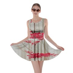 Magic Forest In Red And White Skater Dress