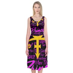 Prince Poster Midi Sleeveless Dress