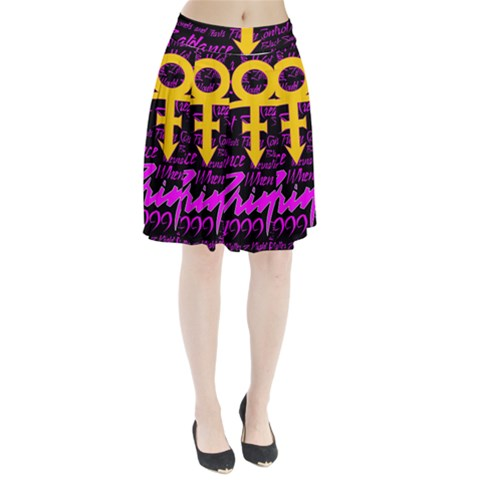 Prince Poster Pleated Skirt