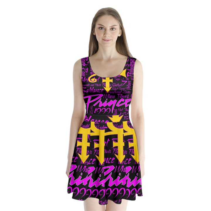 Prince Poster Split Back Mini Dress