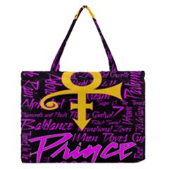 Prince Poster Medium Zipper Tote Bag