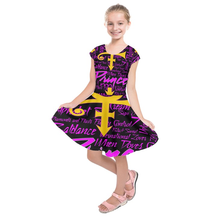 Prince Poster Kids  Short Sleeve Dress