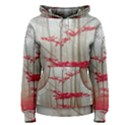 Magic forest in red and white Women s Pullover Hoodie View1