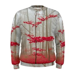 Magic Forest In Red And White Men s Sweatshirt