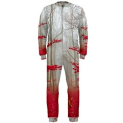 Magic Forest In Red And White Onepiece Jumpsuit (men)