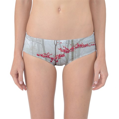 Magic forest in red and white Classic Bikini Bottoms