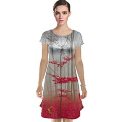 Magic Forest In Red And White Cap Sleeve Nightdress