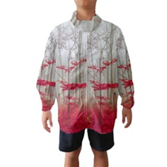 Magic Forest In Red And White Wind Breaker (kids)