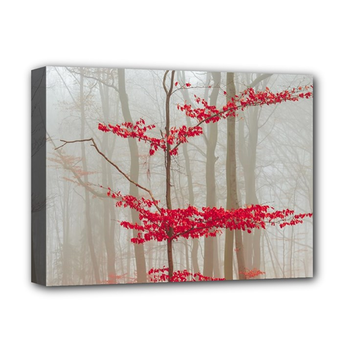 Magic Forest In Red And White Deluxe Canvas 16  x 12