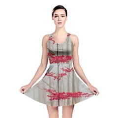 Magic Forest In Red And White Reversible Skater Dress