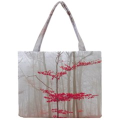 Magic Forest In Red And White Mini Tote Bag