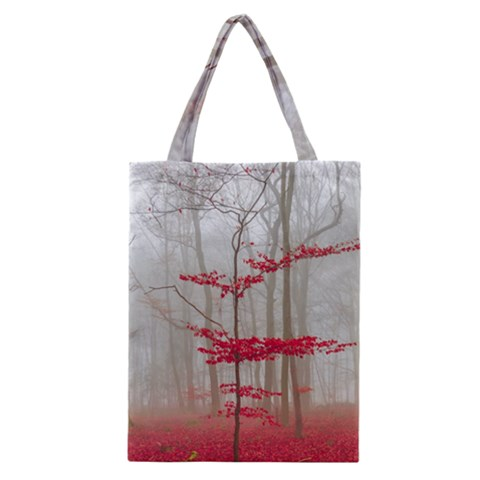Magic Forest In Red And White Classic Tote Bag