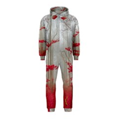 Magic Forest In Red And White Hooded Jumpsuit (Kids)