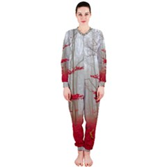 Magic Forest In Red And White OnePiece Jumpsuit (Ladies)
