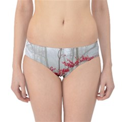 Magic Forest In Red And White Hipster Bikini Bottoms