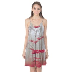 Magic Forest In Red And White Camis Nightgown