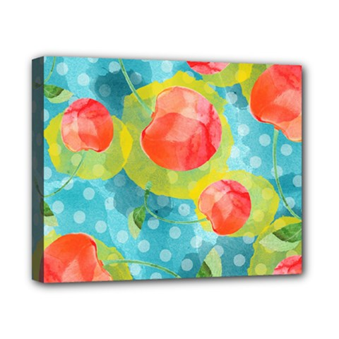 Red Cherries Canvas 10  x 8