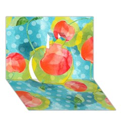 Red Cherries Apple 3D Greeting Card (7x5)