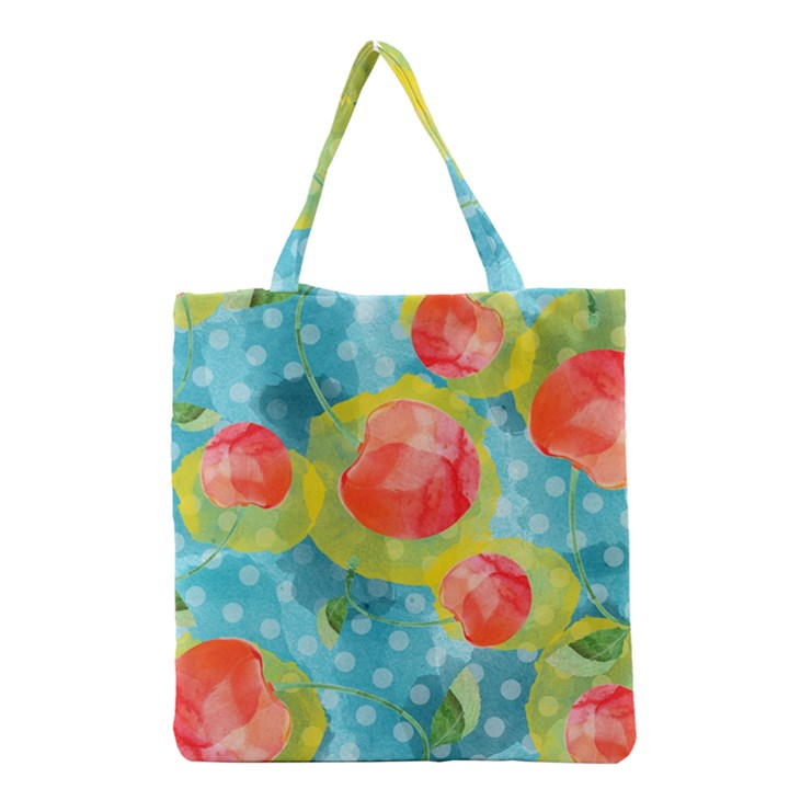 Red Cherries Grocery Tote Bag