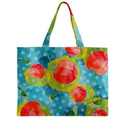 Red Cherries Zipper Mini Tote Bag