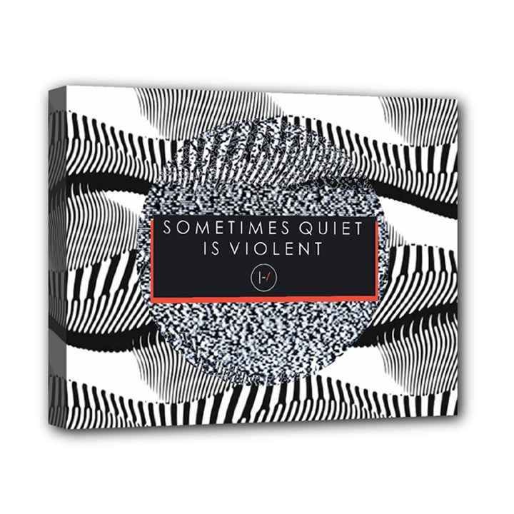Sometimes Quiet Is Violent Twenty One Pilots The Meaning Of Blurryface Album Canvas 10  x 8