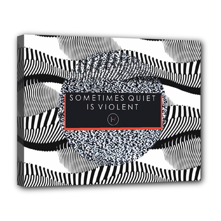 Sometimes Quiet Is Violent Twenty One Pilots The Meaning Of Blurryface Album Canvas 14  x 11