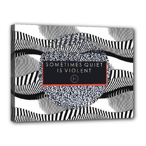 Sometimes Quiet Is Violent Twenty One Pilots The Meaning Of Blurryface Album Canvas 16  x 12