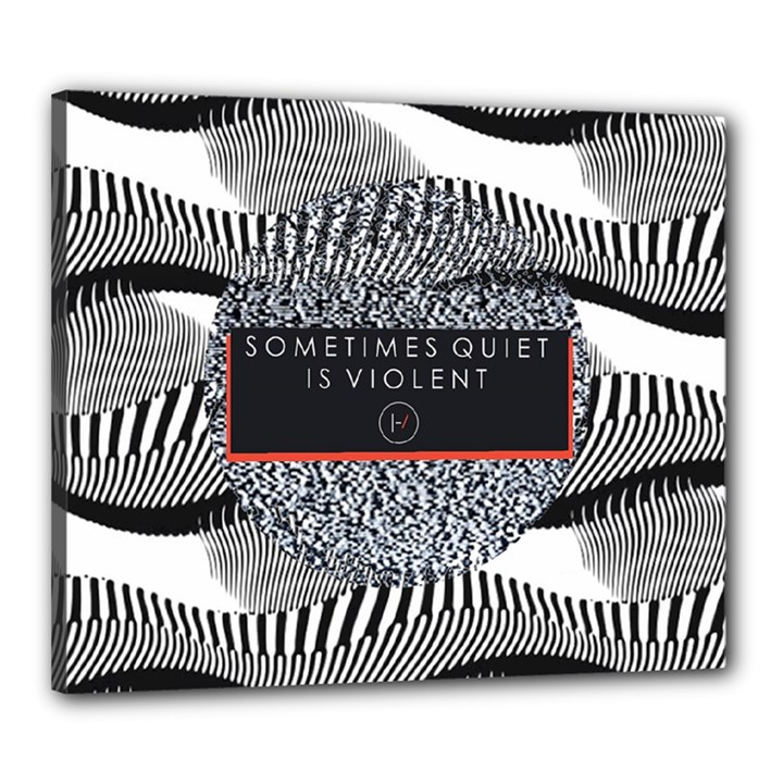 Sometimes Quiet Is Violent Twenty One Pilots The Meaning Of Blurryface Album Canvas 24  x 20