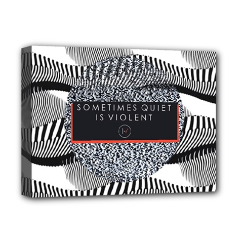 Sometimes Quiet Is Violent Twenty One Pilots The Meaning Of Blurryface Album Deluxe Canvas 16  X 12