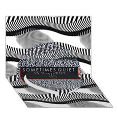 Sometimes Quiet Is Violent Twenty One Pilots The Meaning Of Blurryface Album Heart Bottom 3D Greeting Card (7x5)