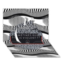 Sometimes Quiet Is Violent Twenty One Pilots The Meaning Of Blurryface Album Apple 3D Greeting Card (7x5)