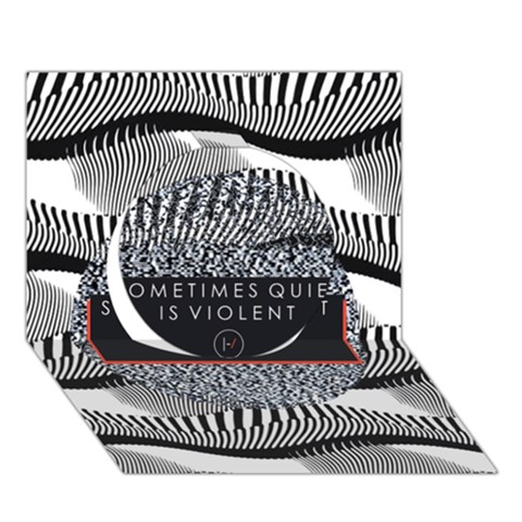 Sometimes Quiet Is Violent Twenty One Pilots The Meaning Of Blurryface Album Circle 3D Greeting Card (7x5)
