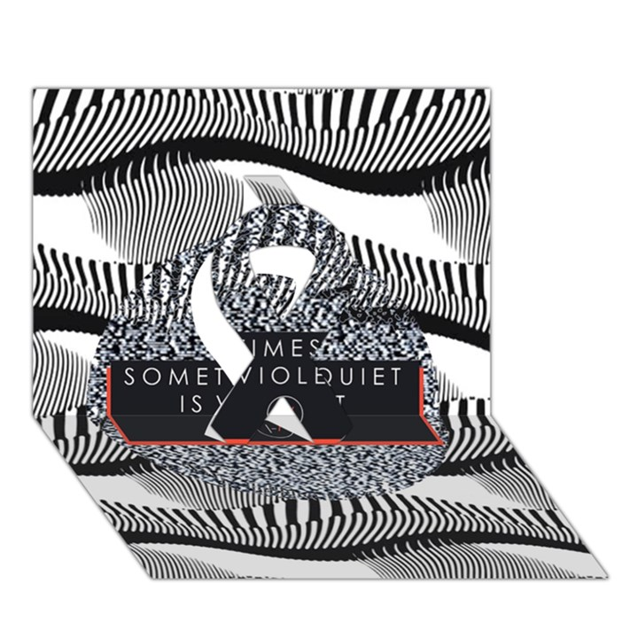Sometimes Quiet Is Violent Twenty One Pilots The Meaning Of Blurryface Album Ribbon 3D Greeting Card (7x5)