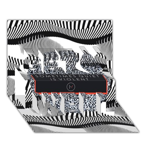 Sometimes Quiet Is Violent Twenty One Pilots The Meaning Of Blurryface Album Get Well 3D Greeting Card (7x5)