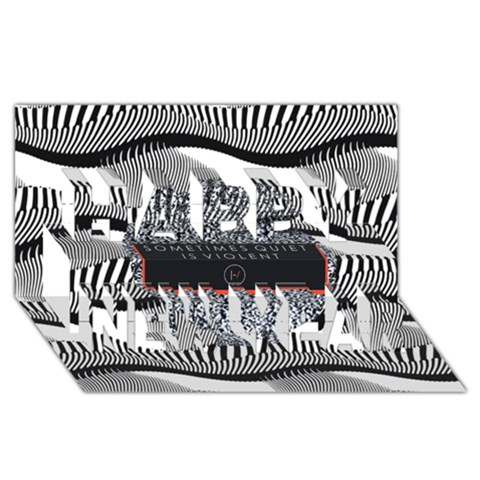 Sometimes Quiet Is Violent Twenty One Pilots The Meaning Of Blurryface Album Happy New Year 3D Greeting Card (8x4)