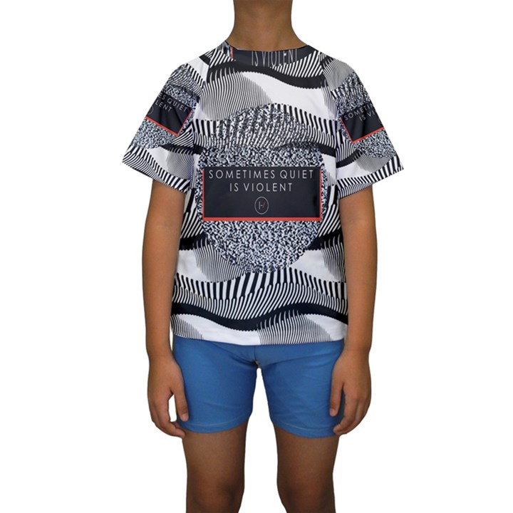 Sometimes Quiet Is Violent Twenty One Pilots The Meaning Of Blurryface Album Kids  Short Sleeve Swimwear