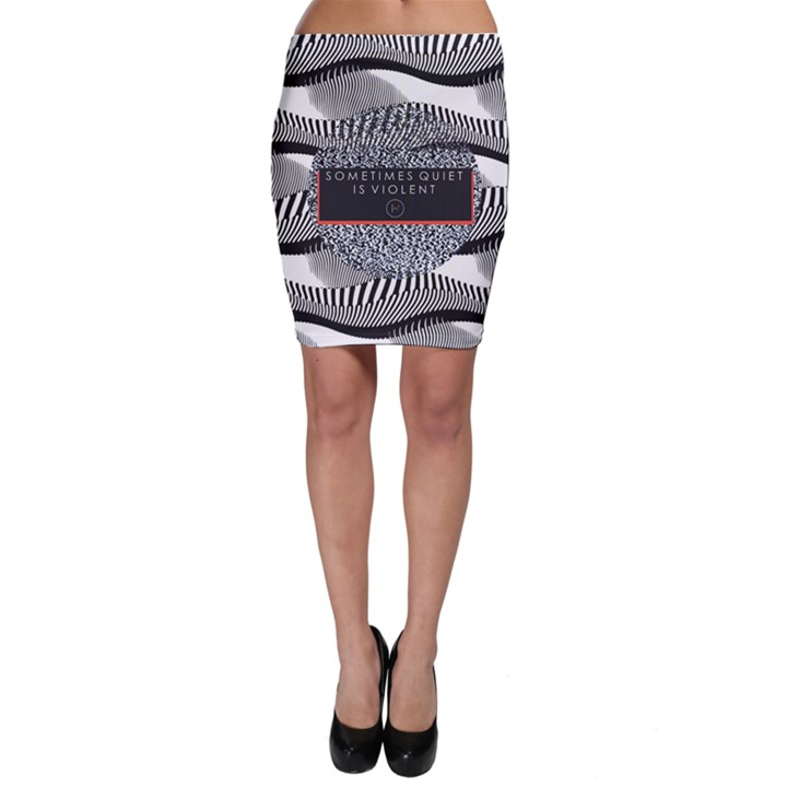 Sometimes Quiet Is Violent Twenty One Pilots The Meaning Of Blurryface Album Bodycon Skirt