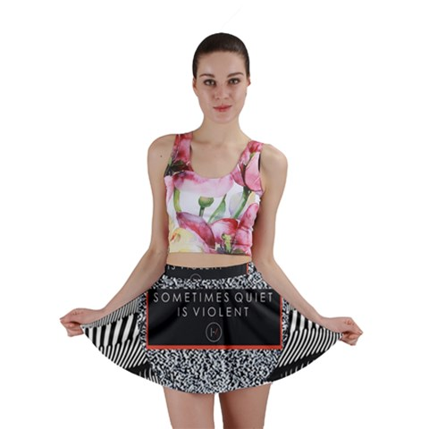 Sometimes Quiet Is Violent Twenty One Pilots The Meaning Of Blurryface Album Mini Skirt