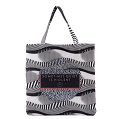 Sometimes Quiet Is Violent Twenty One Pilots The Meaning Of Blurryface Album Grocery Tote Bag