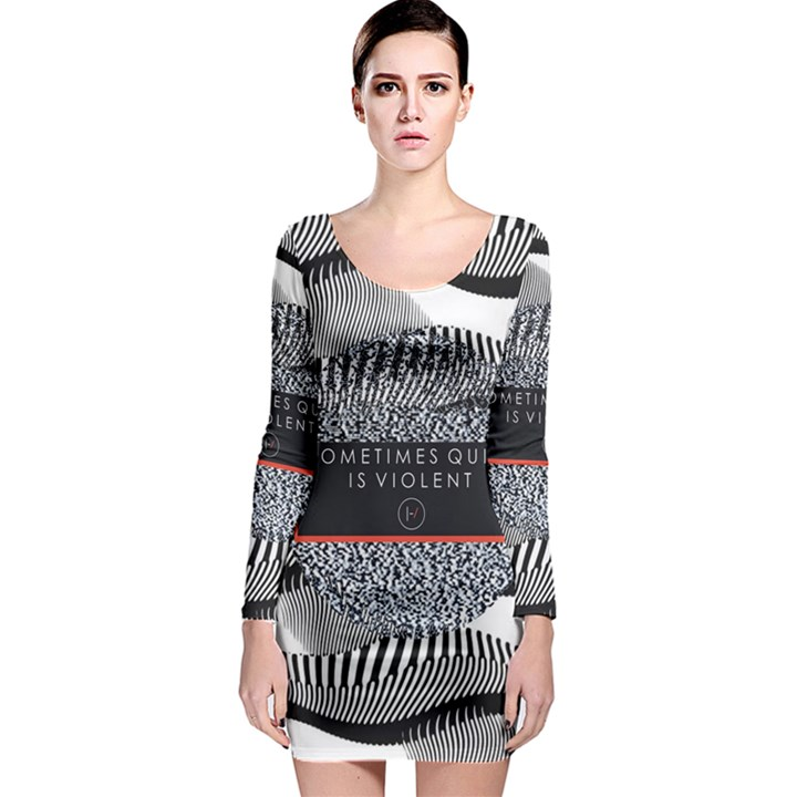 Sometimes Quiet Is Violent Twenty One Pilots The Meaning Of Blurryface Album Long Sleeve Bodycon Dress