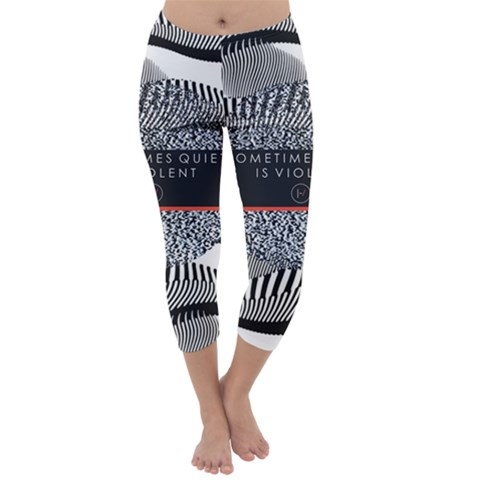Sometimes Quiet Is Violent Twenty One Pilots The Meaning Of Blurryface Album Capri Winter Leggings