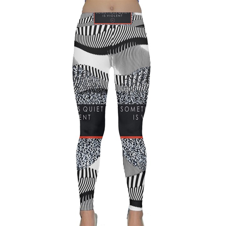 Sometimes Quiet Is Violent Twenty One Pilots The Meaning Of Blurryface Album Yoga Leggings