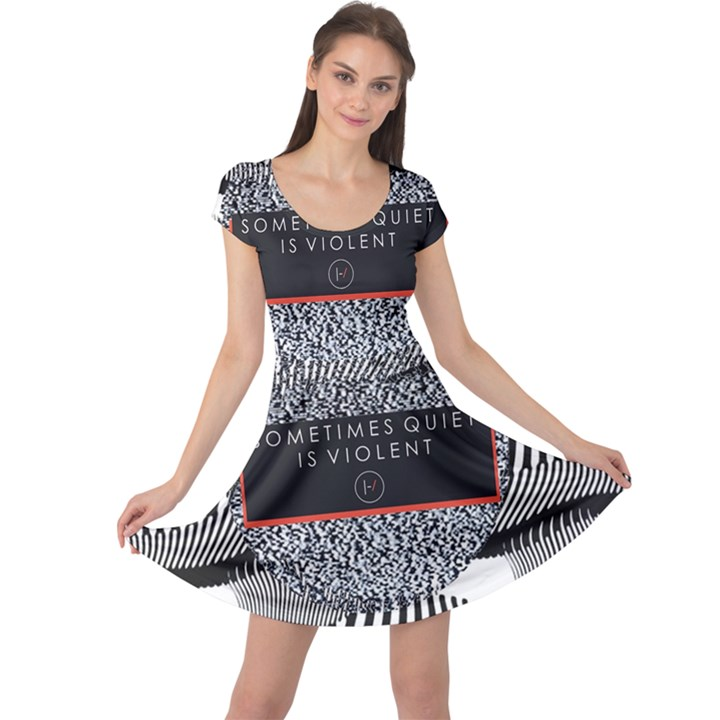 Sometimes Quiet Is Violent Twenty One Pilots The Meaning Of Blurryface Album Cap Sleeve Dresses