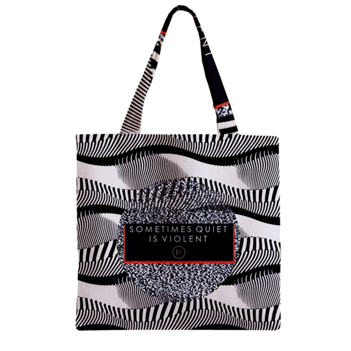 Sometimes Quiet Is Violent Twenty One Pilots The Meaning Of Blurryface Album Zipper Grocery Tote Bag